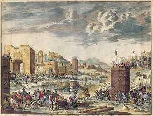 The breaching of the walls of Jerusalem.