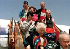Jews emigrating to Israel from the former Soviet Union