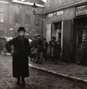 "Szeroka Street. Vishniac referred to it as the ""Broadway"" of Jewish Kraków."